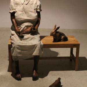 Centro Cultural Pitalito. Obra de Ana Tumal. Fotografía de Jacqueline Tovar